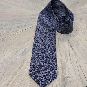 Lanvin 100% silk tie blue